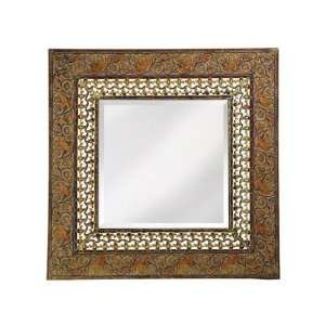 Nashville Framed Mirror in Antique Rust/Verde Home