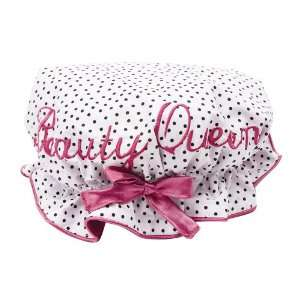 Bombay Duck Beauty Queen Polka Dots Embroidered Shower Cap