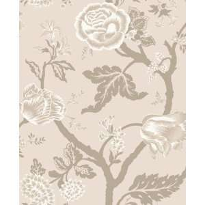Kendal Floral Trail Quartz Wallpaper in Shand Kydd