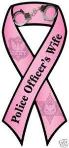 Police Officers Wife Car Ribbon Magnet QUALITY