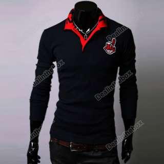 2012 New Mens Korean Spring Lapel Casual Thin POLO Shirt Long Sleeve