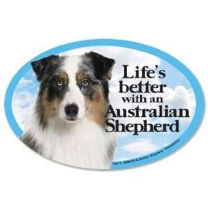 Australian Shepherd Oval Dog Magnet for Cars