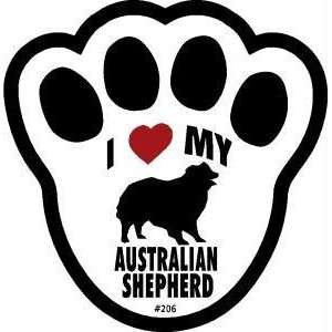 Australian Shepherd Dog Pawprint Window Decal Pet