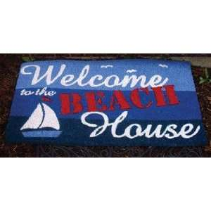 Sailboat Beach House Welcome Coir Door Mat Home Porch