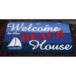 Sailboat Beach House Welcome Coir Door Mat Home Porch