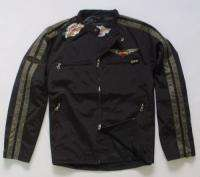 HARLEY DAVIDSON MEN BLACK JACKETS MEDIUM HD72BK M