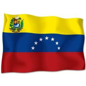 VENEZUELA Flag car bumper sticker decal 6 x 4