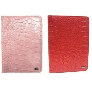 Valentines Day   JAVOedge Pink & Red Croc Book Style Case