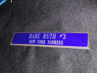 BABE RUTH 1X6 BASEBALL AUTOGRAPH NAME PLATE