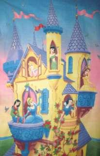 Princess Castle Mulan Cinderella Snow White Ariel Aurora Fleece Throw