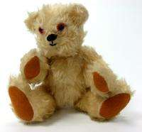VINTAGE LIGHT BROWN PLUSH TEDDY BEAR JOINTED TOY