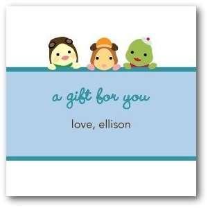 Custom Gift Tag Stickers   Wonder Pets Birthday Surprise Light Blue
