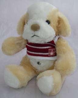 Ming Ren Plush Tan/White Dog 7 Red/White Sweater Beanbag