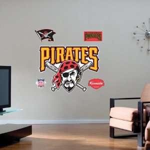 Pittsburgh Pirates Team Logo Fathead Wall Sticker  Sports