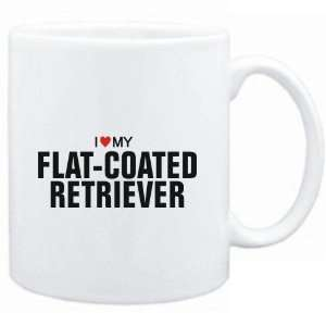 Mug White  I love my Flat Coated Retriever  Dogs Sports
