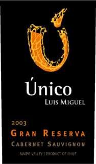Unico Luis Miguel Gran Reserva Cabernet Sauvignon 2003