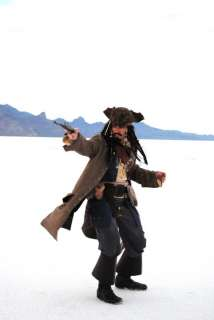 Pirate FULL COSTUME Belts Wig Coat Vest Shirt Pants Sash Baldric