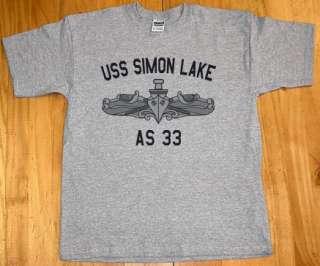US USN Navy USS Simon Lake AS 33 Submarine Tender T Shirt