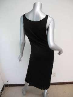 Gucci Black Sleeveless Cowl Neck Bottom Slit Evening Dress XL