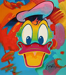 PETER MAX DONALD DUCK DISNEY POP * ART MORE AVAILABLE |