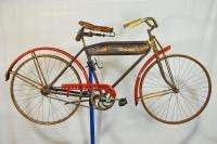 Antique Montgomery Wards Hawthorne Flyer bicycle 28 wooden rim bike