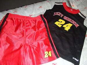 NASCAR 2 PC. BOY/GIRL SHORT SET JEFF GORDON #24 3T NWT