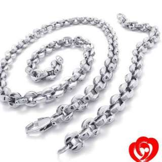 Nice Men High Quality Stainless Steel Necklace&Bracelet