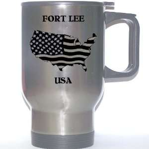 US Flag   Fort Lee, New Jersey (NJ) Stainless Steel Mug