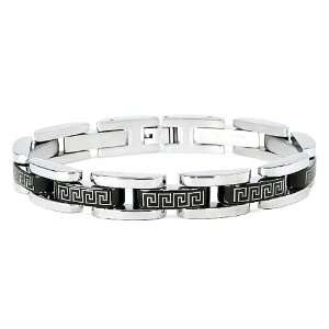 Key Pattern Bracelet (11mm Wide) 8.5 Inches West Coast Jewelry