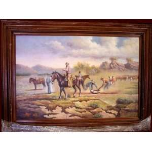 Original Texas Western Oil Cattle Branding by Terry Slenz