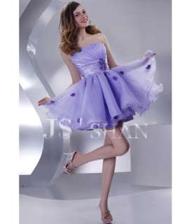 Organza Strapless Beaded Lovely Party Girl Short Cocktail Dress