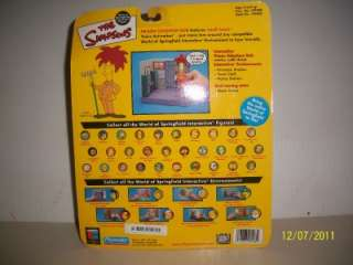 THE SIMPSONS,WORLD OF SPRINGFIELD INTERACTIVE, ACTION FIGURES