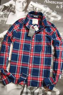 NWT Abercrombie Fitch A&F Hollister Mens BUSHNELL FALLS Shirt $77