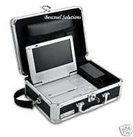 NEW Portable Locking DVD Player Storage Case Key Lock