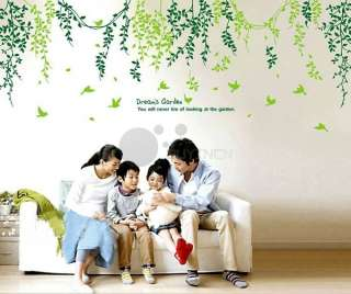 Removable 3m dream's garden Wall Sticker living room bedroom Mural