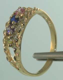 10k yellow gold 2.3g mothers ring 7 1/4 vintage estate