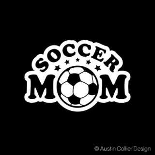 SOCCER MOM Vinyl Decal Car Sticker   School Team Sports