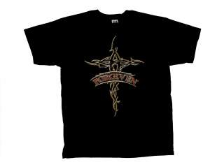 Christian T Shirt Forgiven Tribal Cross