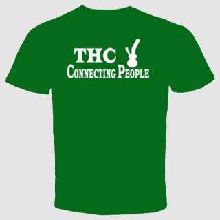 Marijuana Cannabis THC Connecting People Grass Pot Dope Bong Funny