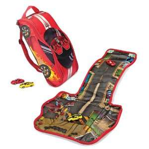 Street Racer Backpack Portable Play Mat with 2 Cars Toys