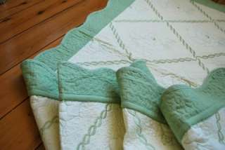 Blooming Rose Cotton Quilted Throw Rug Blanket 70x180cm