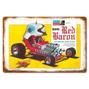 Big Red Baron Automotive Vintage Metal Sign   Victory