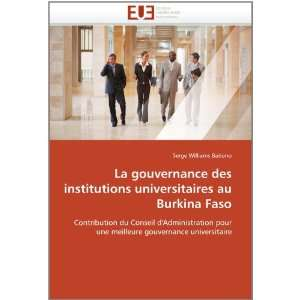 des institutions universitaires au Burkina Faso Contribution du