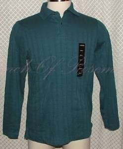 Alfani Mens Cotton Polo Long Sleeved Shirt NWT New 636206676413