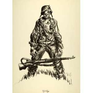 Print Victory Japan Day World War II Rifle Soldier Uniform Military