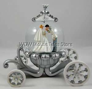 Disney Cinderella Wedding Carriage Snowglobe Globe New