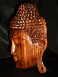 Bali Hand Carved Suar Wood Buddha Mask ~Serenity ART