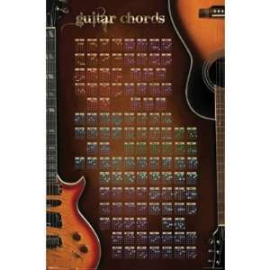 POSTER GUITAR CHORDS FULL COLOR (57732): Musical