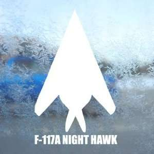 F 117A NIGHT HAWK White Decal Military Soldier Car White