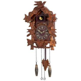 Kassel Cuckoo Clock Wall Clock Battery Operated Wood Accents Birds
